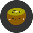 clean food, fruit, ingredient, kiwi, sour, sweet icon