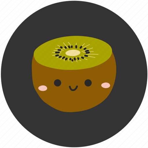 clean food, fruit, ingredient, kiwi, sour, sweet icon