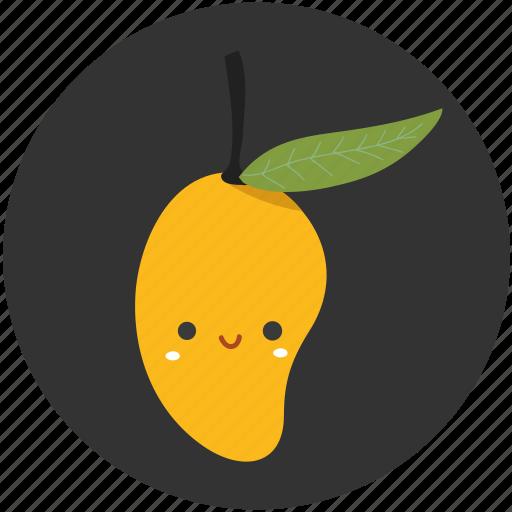 clean food, fruit, ingredient, mango, sweet, tropical fruit icon