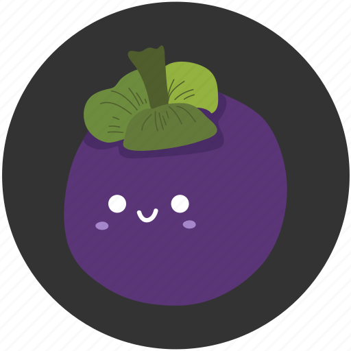 clean food, fruit, mangosteen, sweet, tropical, tropical fruit icon