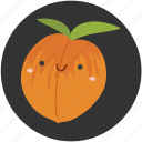 clean food, dessert, fruit, ingredient, peach, plum, sweet icon
