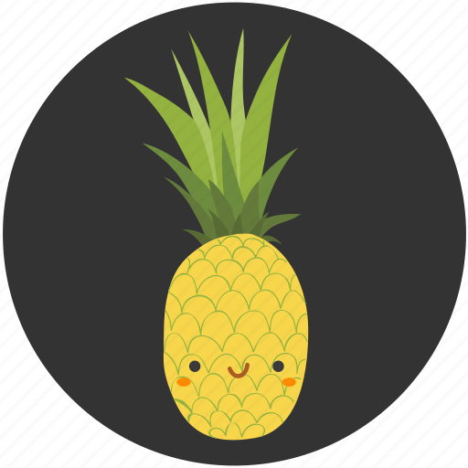 fruit, ingredient, pineapple, sour, sweet, tropical fruit icon