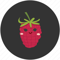 berry, clean food, fruit, ingredient, raspberry, sour icon