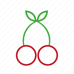 cherry, coloredbeans, food, fruit, green, kitchen, nature, red, restaurant, sweet icon