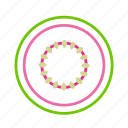 coloredbeans, food, fruit, green, grow, guave, healthy, pink, pit icon