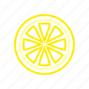 citrus, coloredbeans, food, fruit, sour, yellow icon