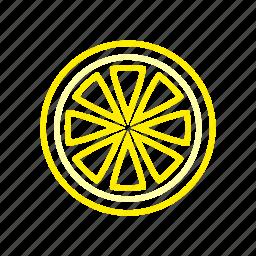 citrus, coloredbeans, food, fruit, sour, yellow icon