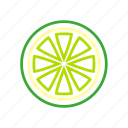 citrus, coloredbeans, drink, food, fruit, green, kitchen, lime, sour, yellow icon