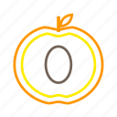 coloredbeans, drink, food, fruit, orange, peach, pit, sweet icon