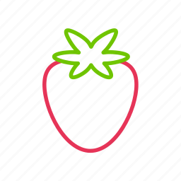 coloredbeans, drink, food, fruit, green, healthy, juice, kitchen, red, strawberry icon