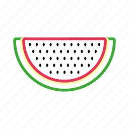 coloredbeans, drink, food, fruit, melon, summer, sweet, water, watermelon icon
