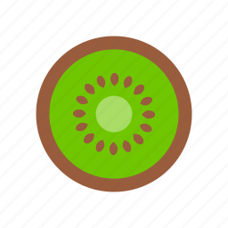 food, fruit, kiwi, nature, pit icon