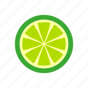 cooking, food, fruit, kitchen, lemon, lime, nature, sour icon