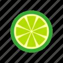 cooking, food, fruit, kitchen, lemon, lime, nature, sour icon