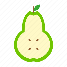 cooking, food, fruit, kitchen, leaf, nature, pear icon