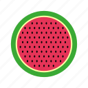 slice, nature, food, water, fruit, melon, watermelon, pit, cooking, kitchen