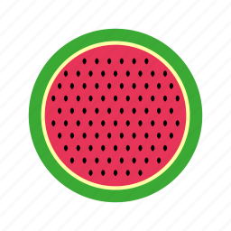 cooking, food, fruit, kitchen, melon, nature, pit, slice, water, watermelon icon