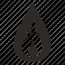 danger, drop, fuel icon