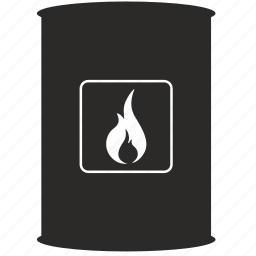 barell, fire, flame, fuel icon