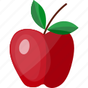 apple, crabapple, flat, fruit, orchard, pome, tree icon