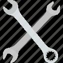 flat, hardware, key, mechanic, spanner, tool, wrench icon