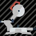 circular, electric, end, flat, saw, steel, tool icon