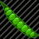 flat, food, green, natural, organic, pea, vegetable
