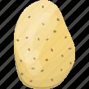 flat, food, fresh, healthy, natural, organic, potato