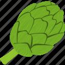 artichoke, flat, food, fresh, healthy, natural, nutrition