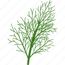 food, dill, flat, eating, plant, fresh, cooking icon
