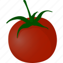 flat, fresh, healthy, natural, organic, tomato, vegetable icon