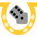 bet, dices, gambling, luck icon