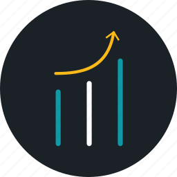 business, chart, growth, statistics icon