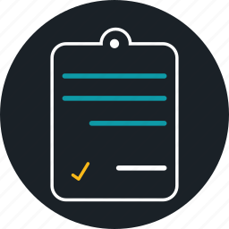 business, contract, list, paper, work icon