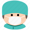 char, doctor, hospital, male, man, medical, surgeon icon