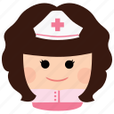 char, female, girl, heatlh, medic, nurse, woman icon