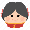 char, chinese, cute, female, girl, tradisional, woman icon