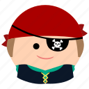char, eyepatch, male, man, pirate, professional icon