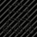 briefcase, currency, hedge, money, portfolio
