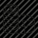 coin, fund, invest, money, pie chart icon