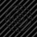 crosshair, dollar, focus, money, target icon