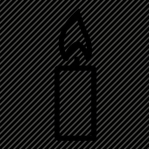 burning candle, candle, candlelight, light icon