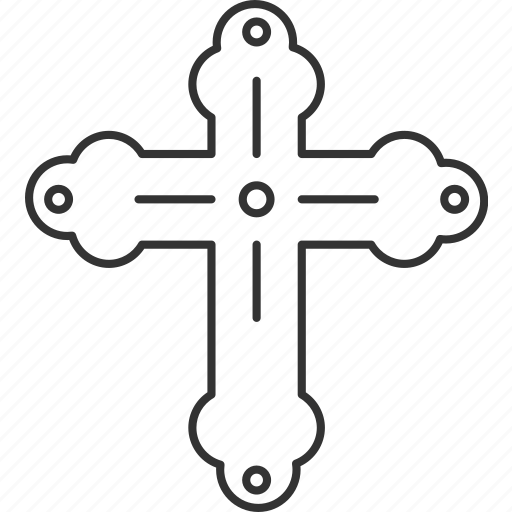 Byzantine, cross, christian, religious, holy icon - Download on Iconfinder