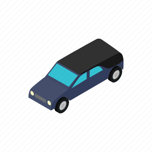 car, death, funeral, hearse, isometric, service, transport icon