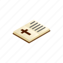 bible, book, god, holy, isometric, open, psalm icon