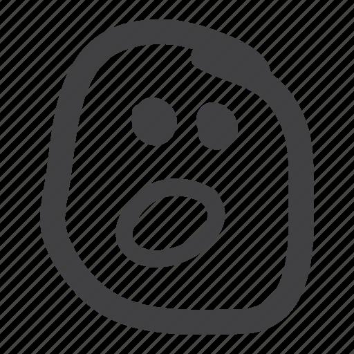 emoticons, skocked, smiley icon