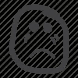 cry, emoticon, sad, smiley icon