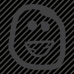 emoticon, happy, laugh, smiley icon