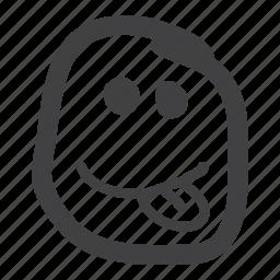 cheeky, emoticon, smiley, tongue icon
