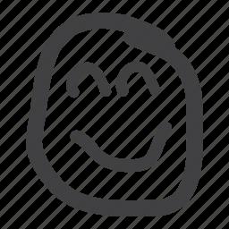 emoticon, happy, lovely, smile, smiley icon